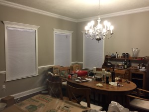 Dining Room with blinds