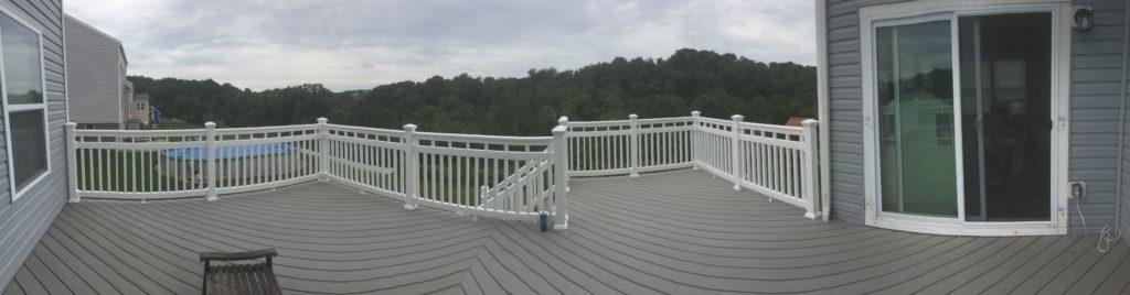 Panoramic of deck
